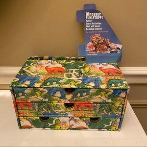 Dinosaur Fun Craft Stuff Box with Drawers